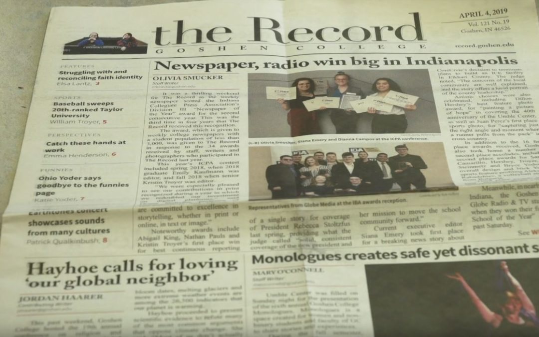 The Record wins Newspaper of the Year